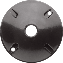 RAB Lighting Round Electrical Box Cover - Black