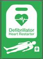 Public Access Defibrillator (PAD) AED Sign