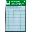 Defibrillator Inspection Tag