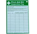 First Aid Kit Inspection Tag