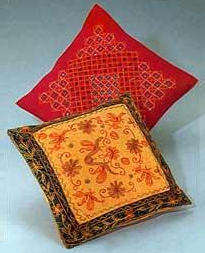 Quilted Embroidered Cushion covers