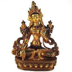 """White Tara Statue, 8"""""""