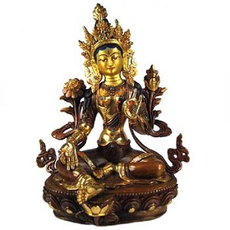"Green Tara Statue, 6"""