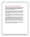 BUS 402 Week 1 DQ 1 Environmental Changes