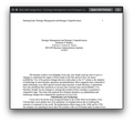 Strayer BUS 499 Assignment 1 Strategic Management and Strategic Competitiveness / Business Administration Capstone