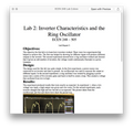 ECEN 248 Lab 2 Inverter Characteristics and the Ring Oscillator Solution (Texas A&M)