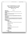 ECEN 248 Lab 6 Introduction to Logic Simulation and Verilog Solution (Texas A&M)