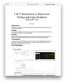 ECEN 248 Lab 7 Introduction to Behavioral Verilog and Logic Synthesis Solution (Texas A&M)