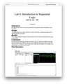 ECEN 248 Lab 8 Introduction to Sequential Logic Solution (Texas A&M)
