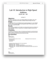 ECEN 248 Lab 10 Introduction to High-Speed Addition Solution (Texas A&M)