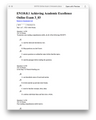 EN110 Achieving Academic Excellence Online Exam 3 Answers