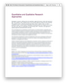 RES 7110 Week 2 Discussion 1 Quantitative and Qualitative Research Approaches (University of the Rockies)