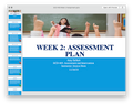 Ashford ECD 405 Week 2 Assignment Assessment Plan