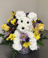 Flower Puppy In a Basket (Large)