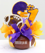 football cookie bouquet