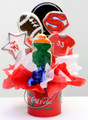 sports theme cookie bouquet