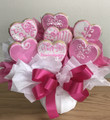 Special Heart Cookie Bouquet