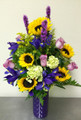 Sunflowers, Lavender Roses and Iris