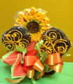 Sunflower Surprise Cookie Bouquet
