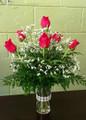 6 Roses in a Vase