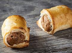 Mini beef sausage rolls