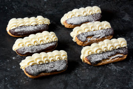 Mini fresh cream eclair