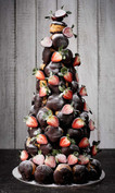 Dark chocolate croquembouche