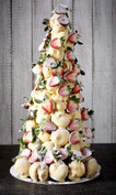 Strawberries and Creme Croquembouche