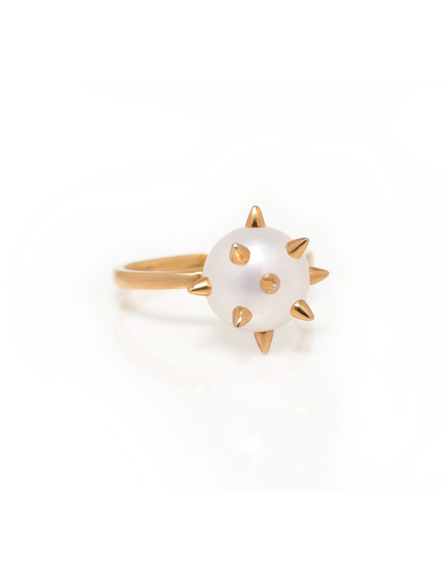 Spike Pearl Ring
