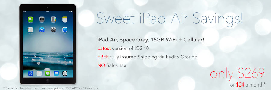 Sweet iPad Air Savings! Was $629, now only $269 shipped!