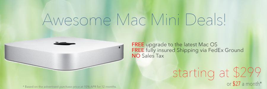 Mac Mini Deals deals starting as low as $299 shipped!