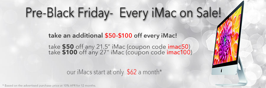 $50 to $100 instant rebates on any iMac! Act fast for best selection!