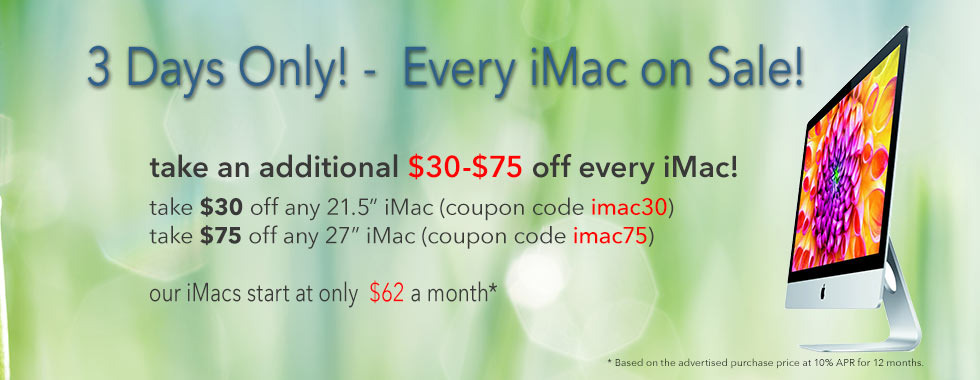 3 Days only! Take an additional $30-$45 off already discounted prices. Free insured shipping!