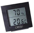 Credo Large Display Digital Hygrometer Thermometer Black