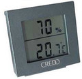 Credo Large Display Digital Hygrometer Thermometer Grey