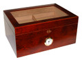 Milano 100 Count Glass Top Humidor