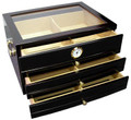 The Palmero Glasstop 150 Count Humidor