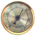 Western Instruments Analog Round Hygrometer Gold Finish