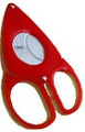 Credo Compact Scissor Cigar Cutter 54 Ring Red