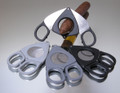 Credo XXL Compact Scissor Cigar Cutter 70 Ring Light Grey