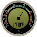 Cigar Oasis Caliber 4R Digital Hygrometer Thermometer Silver + Boveda Calibration Packet