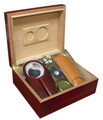 The Diplomat Gift Set 50 ct. Cigar Humidor w/ Cutter Case Ashtray