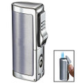 Visol Aleus 3 Jet Torch Lighter Brushed Chrome