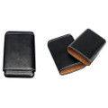 Black Leather Crushproof Spanish Cedar Lined Cigar Case