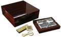 The Chamberlain Gift Set 100 ct. Cigar Humidor w/ Cutter & Ashtray