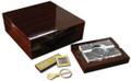 The Chamberlain Gift Set 100 ct. Cigar Humidor w/ Cutter & Ashtray