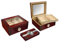 The Sovereign Gift Set 50 ct. Glasstop Cigar Humidor w/ Ashtray