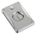 Caseti Dion Double Blade Cigar Cutter Silver Carbon Fiber