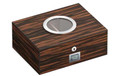 Port Ebony Finish Humidor - Holds 75 Cigars