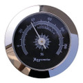 Analog Round Hygrometer Silver Bezel Finish Black Face